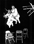 [Matthew Child and Dudley Brooks in 'Upchairs Downchairs' -- photo by Steve Savage]