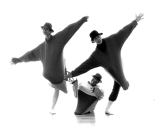 Rose Gray, Matthew Child, and Dudley Brooks in 'Les Sillyphides' -- photo by Steve Savage